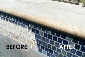 We Do Not Use Gl Beads Which Damage And Etch Your Pool Tiles Remove The Shine